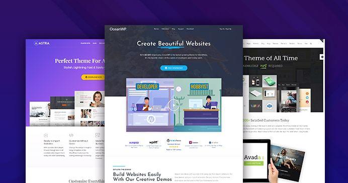 Wordpress có nhiều theme có sẵn