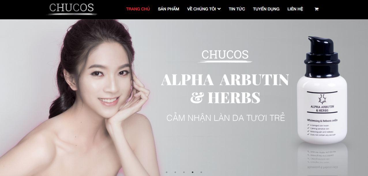 Website của Chucos được Mona thiết kế theo yêu cầu độc - quyền