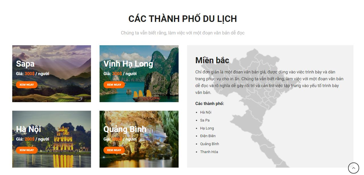 dịch vụ thiết kế website du lịch