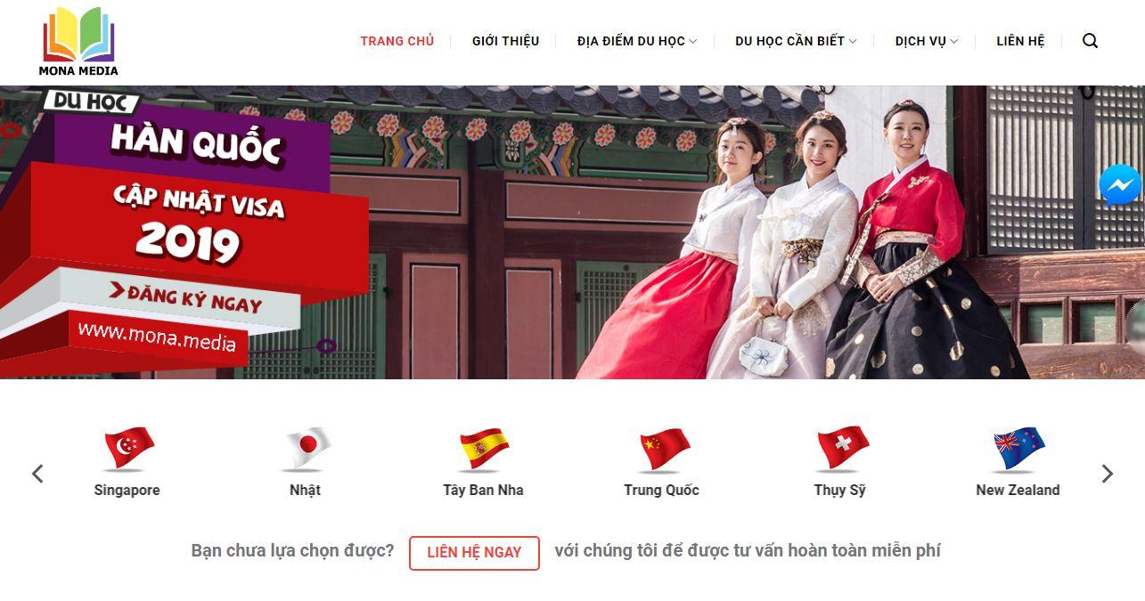 Dịch vụ thiết kế website tư vấn du học