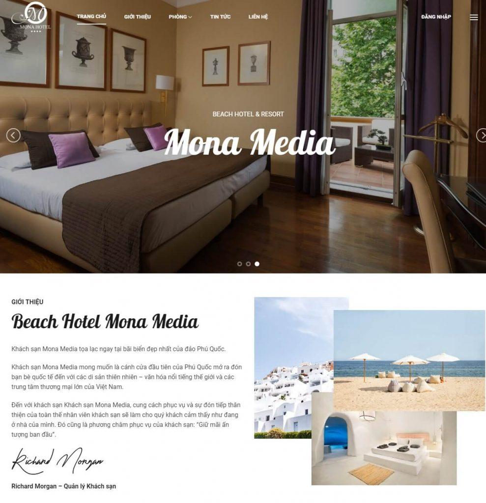 Kho mẫu website vô cùng lớn của Mona