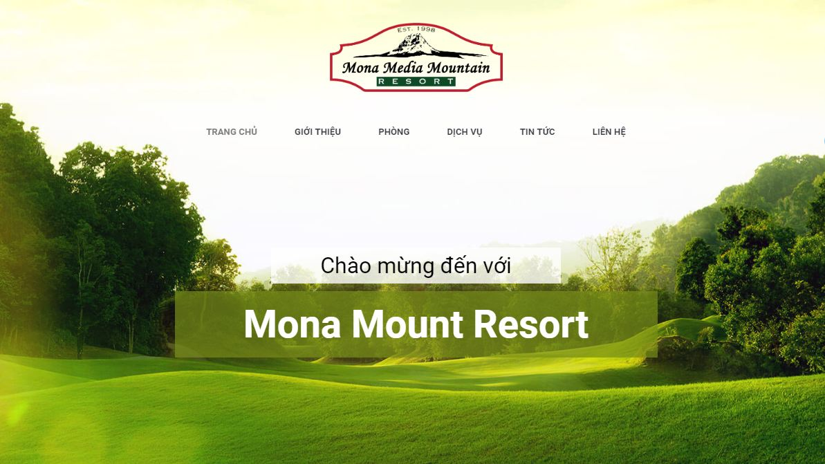 Thiết kế website bằng WordPress cho resort