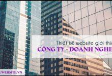 Thiết kế website giới thiệu công ty - doanh nghiệp