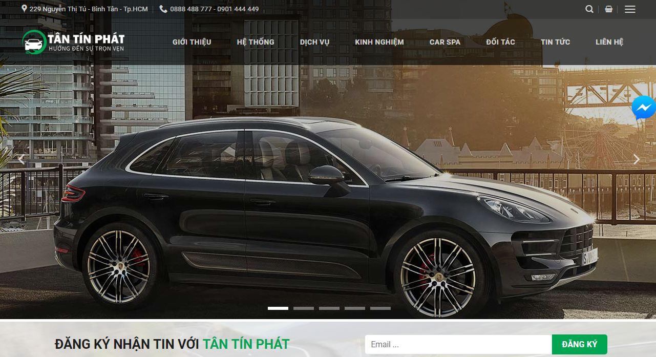 Dự án thiết kế website giới thiệu Tân Tín Phát của Mona