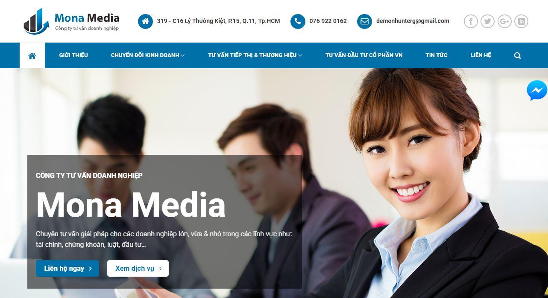 Thiết kế website giới thiệu công ty tư vấn