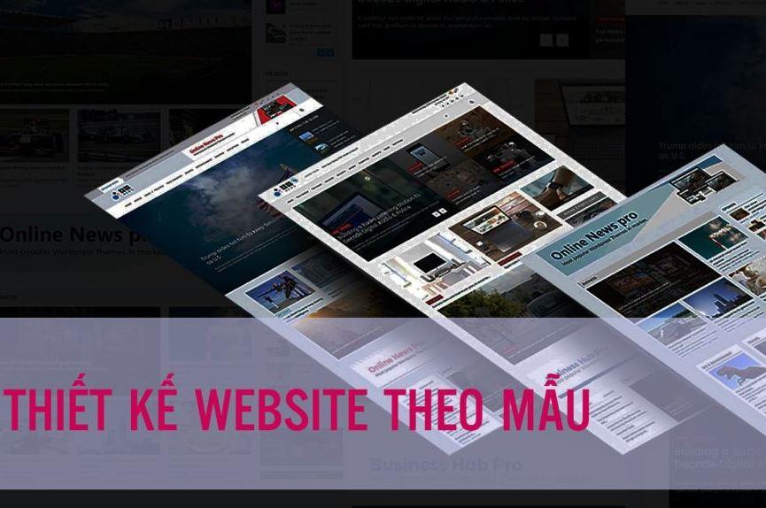 Dịch vụ thiết kế website theo mẫu có sẵn