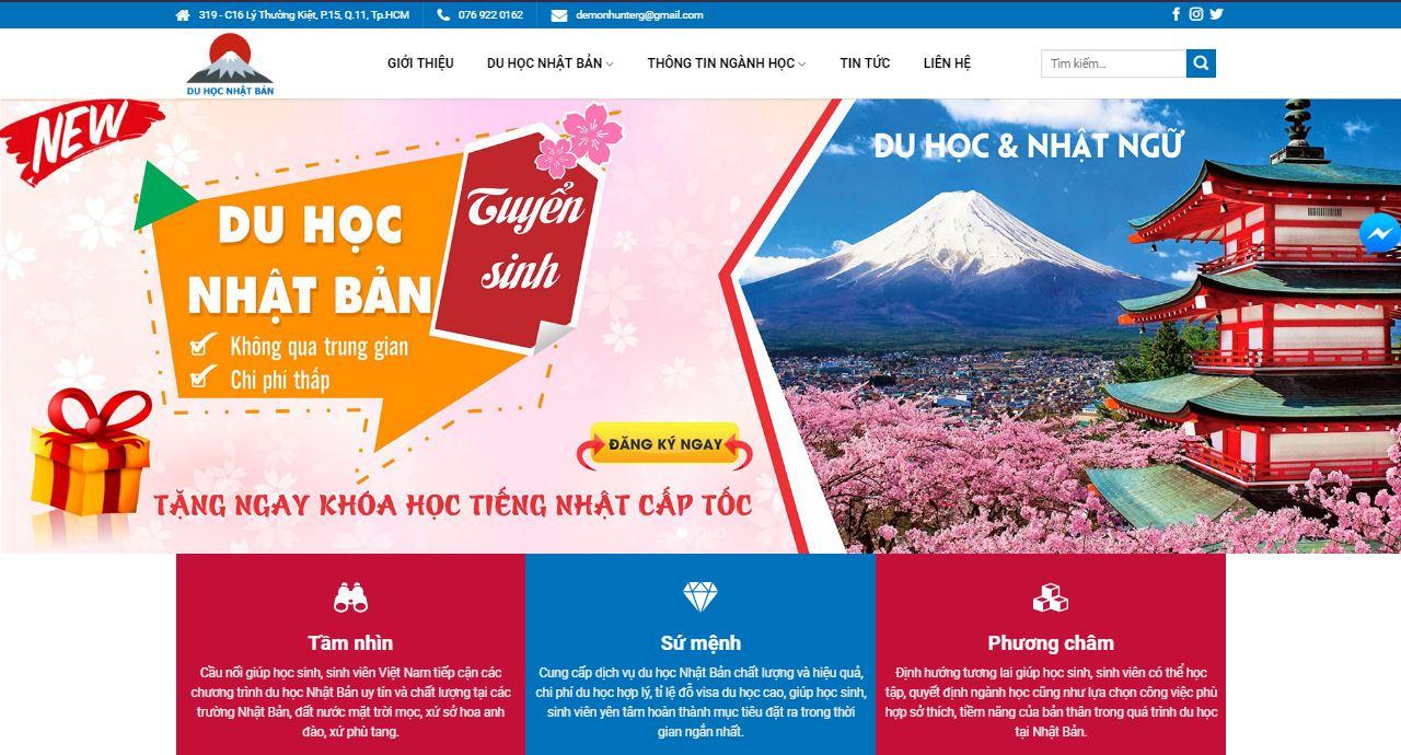 Thiết kế website tư vấn du học Nhật Bản
