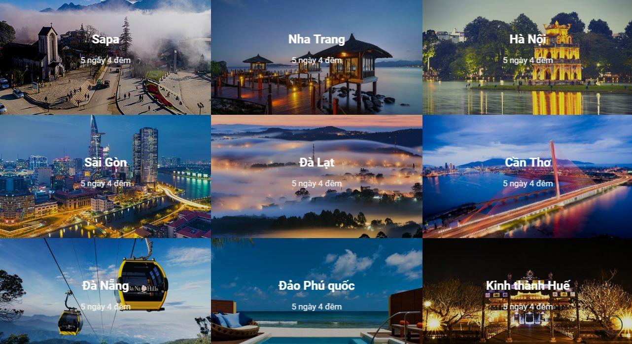 Tính năng trong thiết kế website du lịch