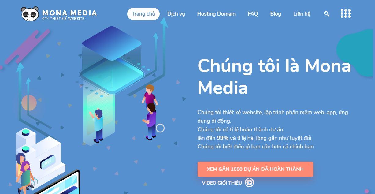 Công ty thiết kế website rao vặt Mona Media