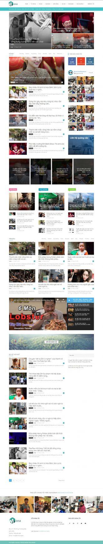 mẫu website tin tức Kenh14