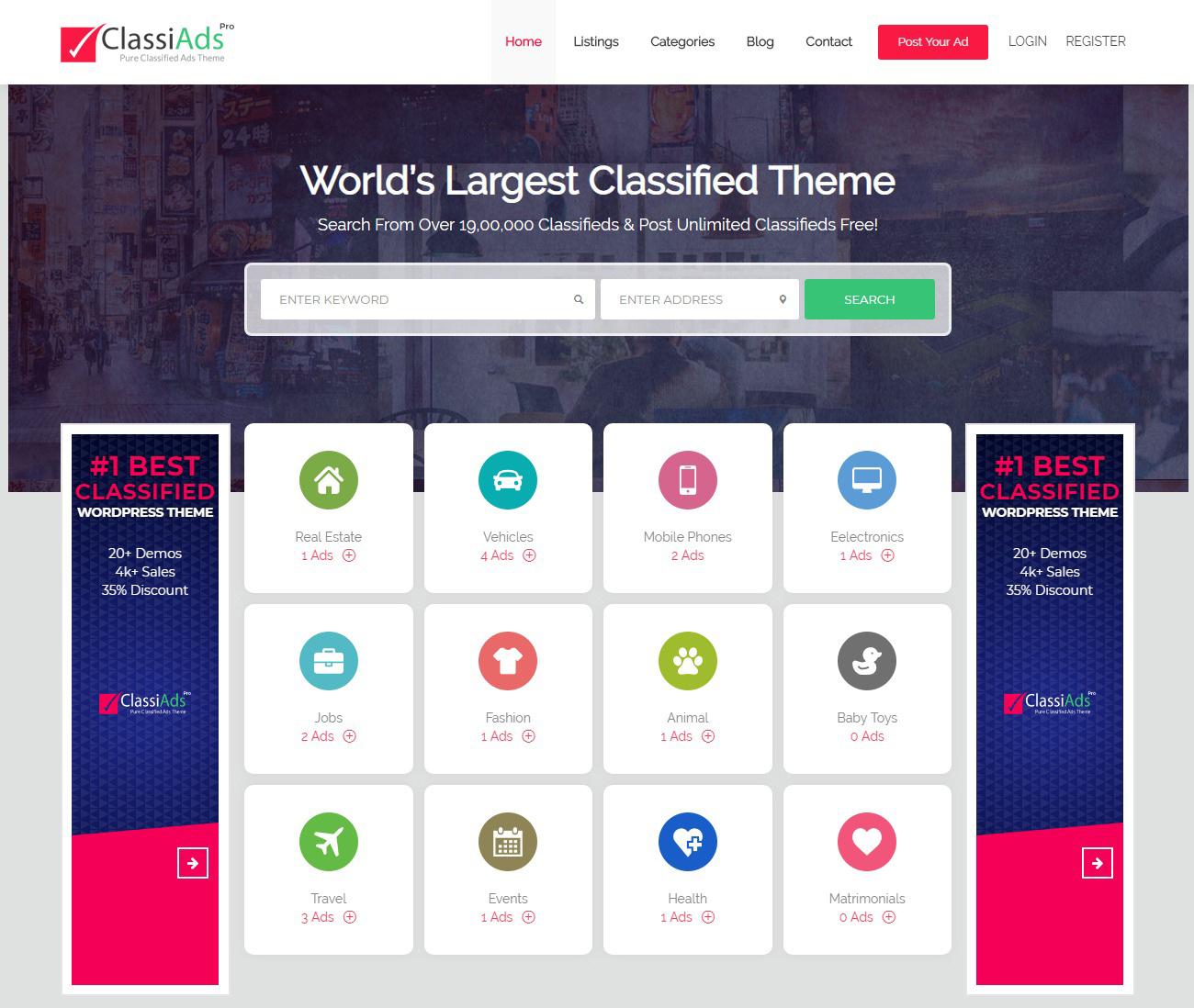 Mẫu thiết kế website rao vặt tại Mona Media