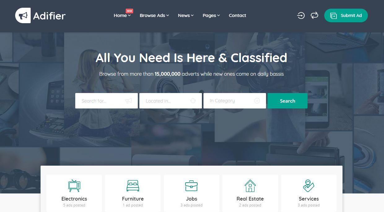 Mẫu thiết kế website rao vặt trực tuyến