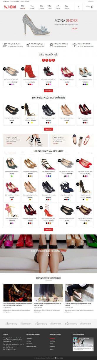 Mẫu website giống Dưa Leo shoes