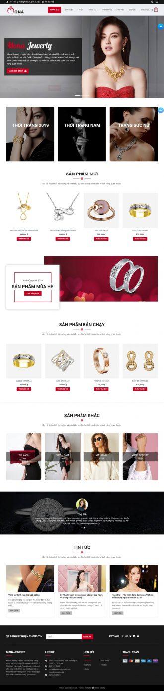 Mẫu website giống Karo - kinh doanh thời trang