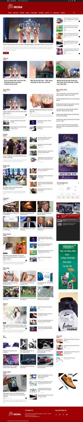 Mẫu website tin tức Người đưa tin
