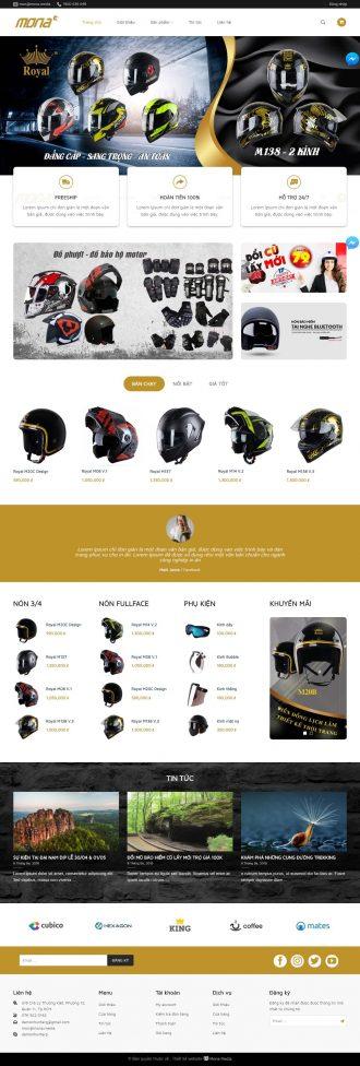 Mẫu website bán nón mũ giống Nón Sơn
