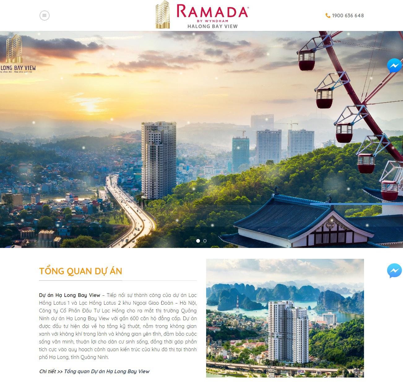 Thiết kế website dự án bds Hạ Long Bay