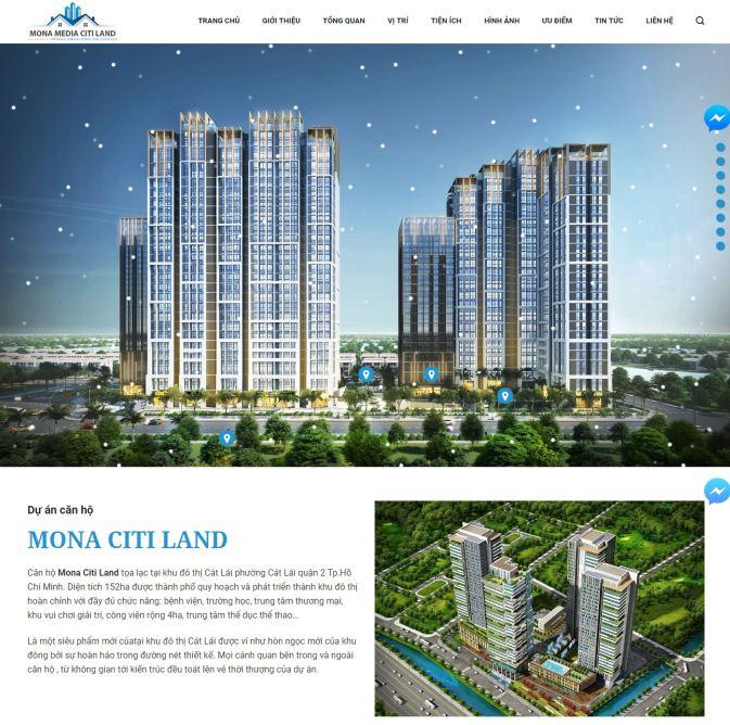 Thiết kế website giá rẻ cho landing page bds