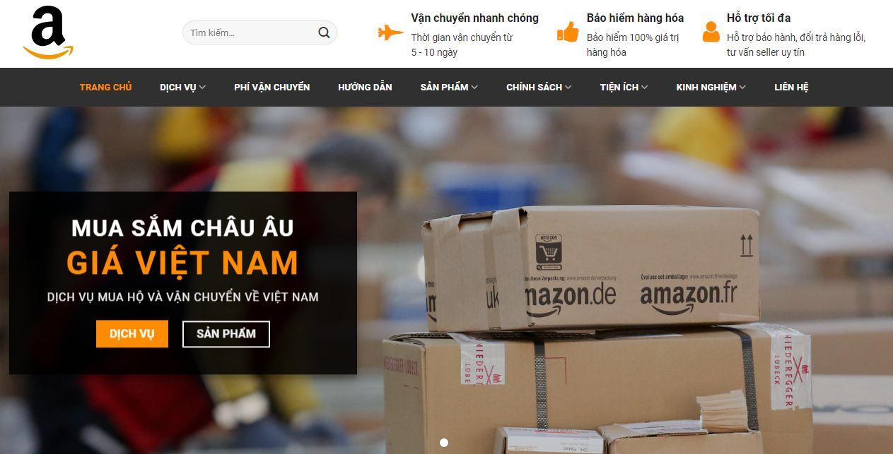 Thiết kế web giá rẻ dành riêng cho nhập hàng trên Amazon