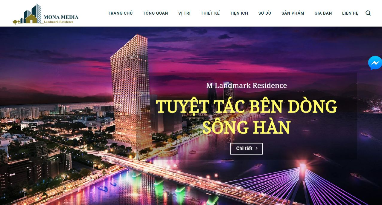Thiết kế website bất động sản Landmark Resident