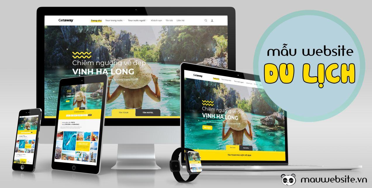 Thiết kế website responsive cho du lịch và bán tour