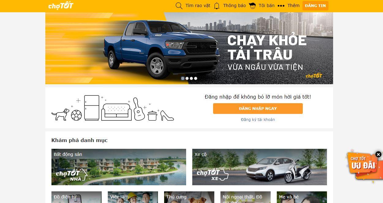 Chợ tốt - website rao vặt miễn phí hàng đầu