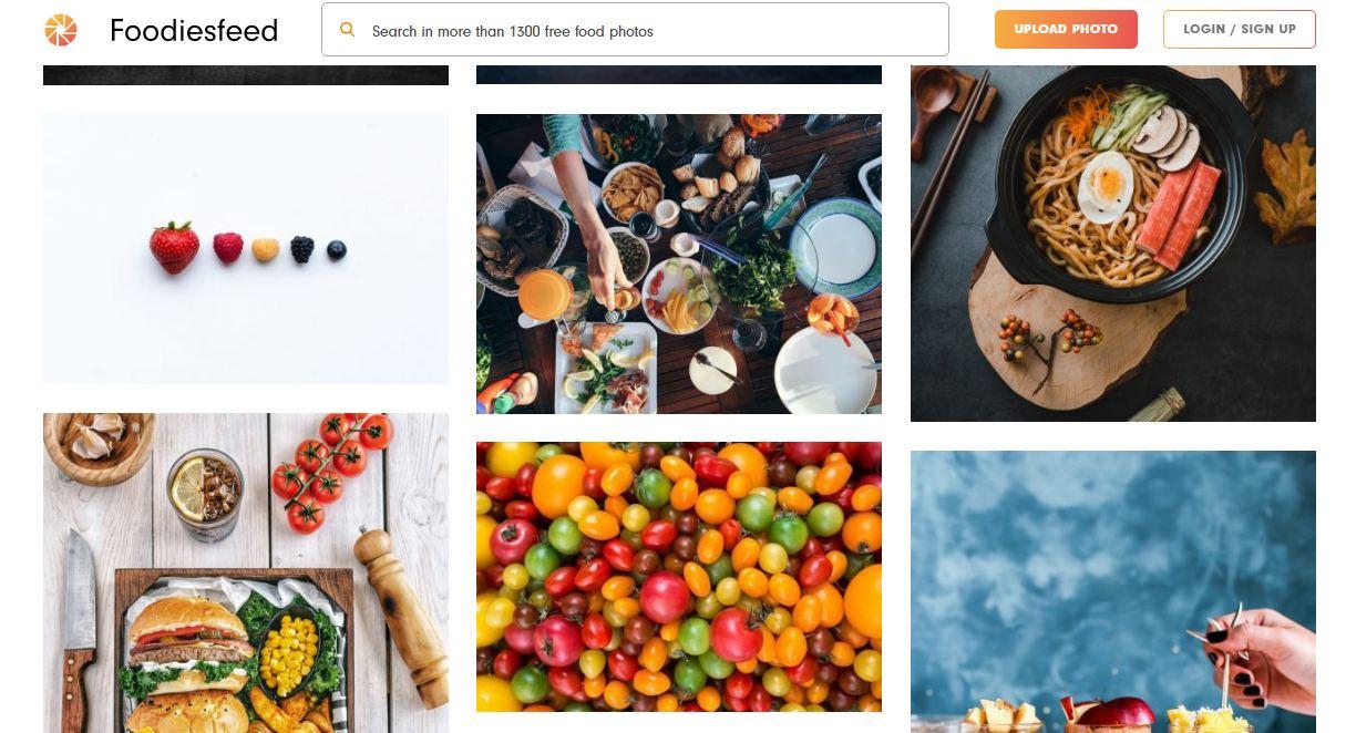 Foodiesfeed - website download ảnh chất lương cao về ẩm thực