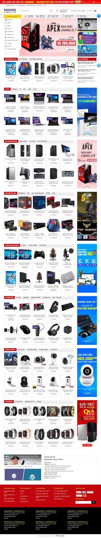 Mẫu website Hà Nội Computer