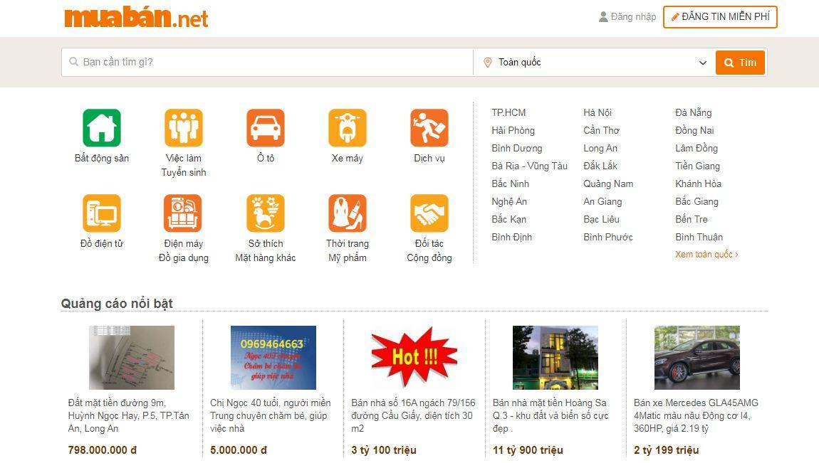 Muaban.net - website rao vặt miễn phí