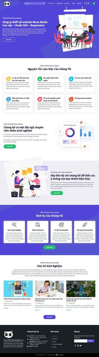 Mẫu website giới thiệu công ty lập trình web thương hiệu