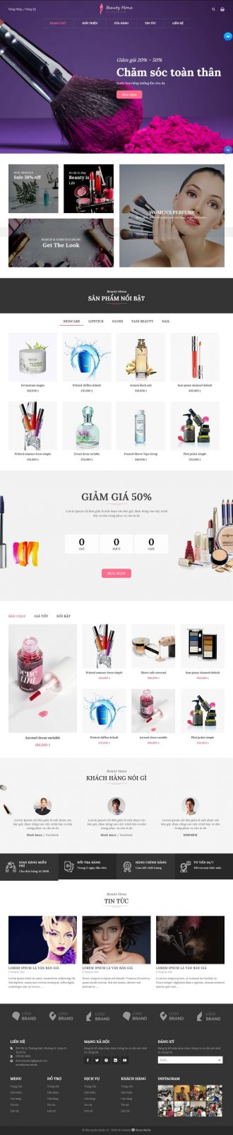 Mẫu website giống Vani Beauty
