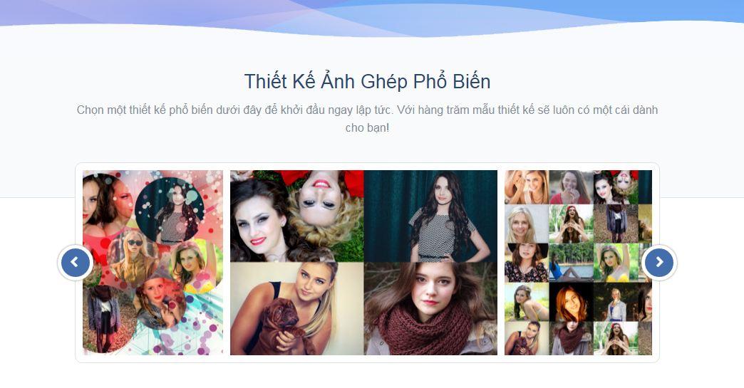 Photovisi -phần mềm ghép ảnh online