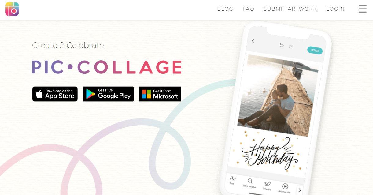 pic collage - phần mềm ghét ảnh online miễn phí tốt nhất
