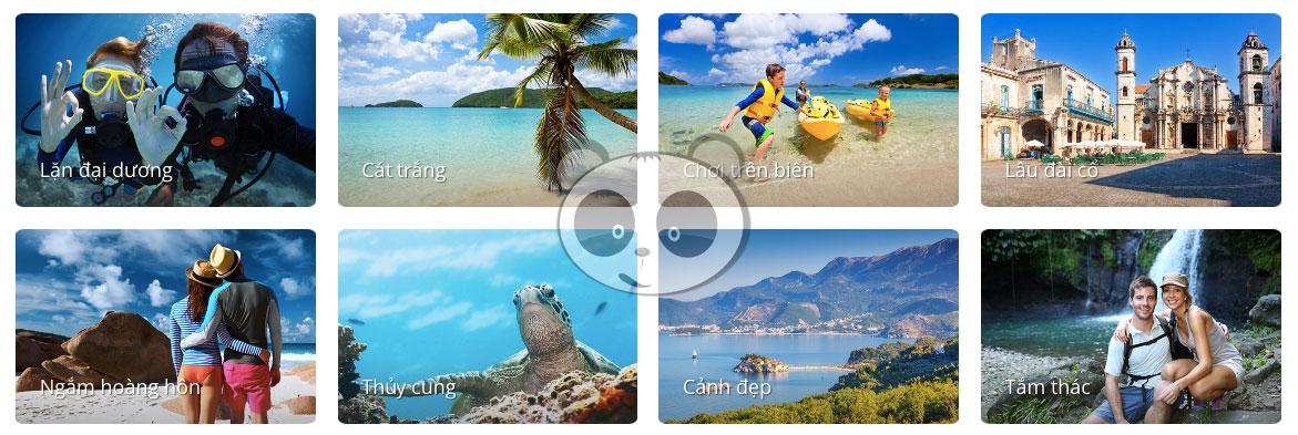 Thư viện ảnh cho web du lịch