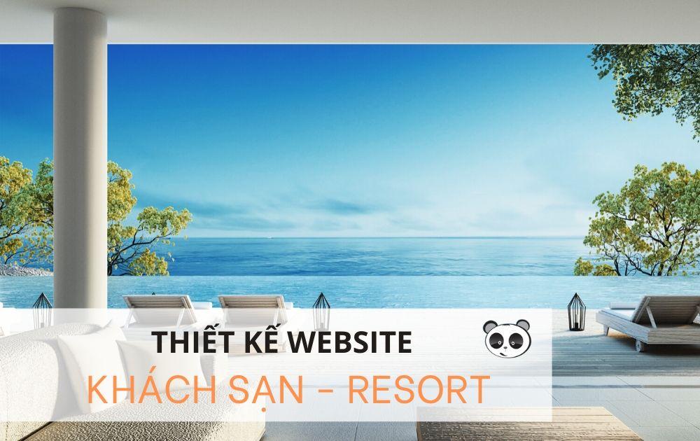 Thiết kế website khách sạn - resort