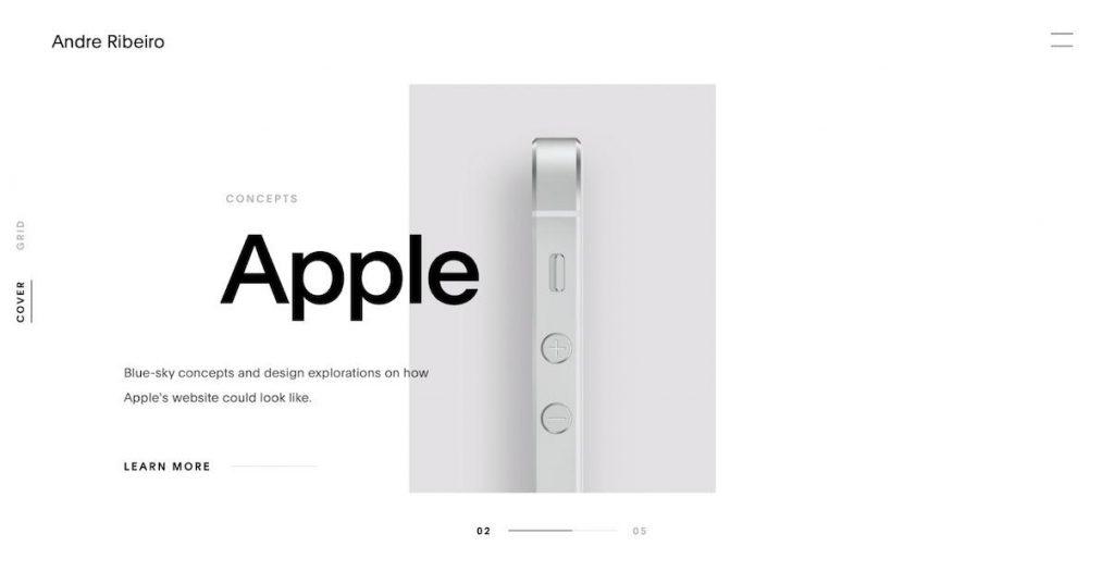 thiết kế website chủ nghĩa tối giản