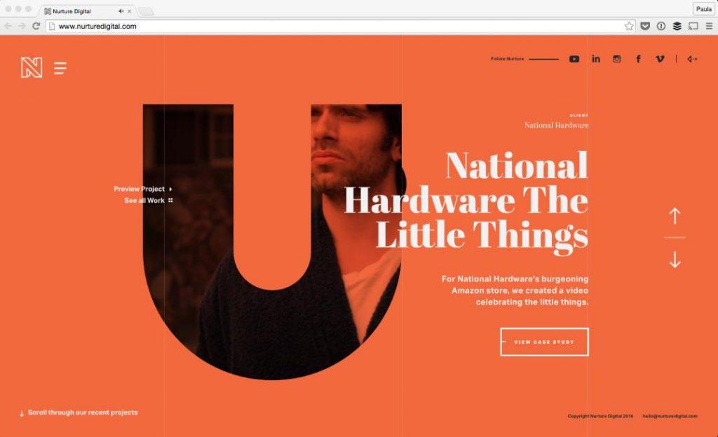 thiết kế web kết hợp chữ in đậm