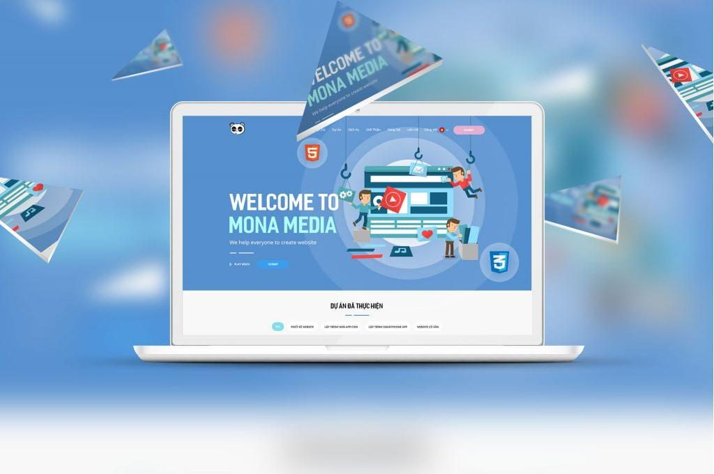 Thiết kế website cao cấp Mona Media