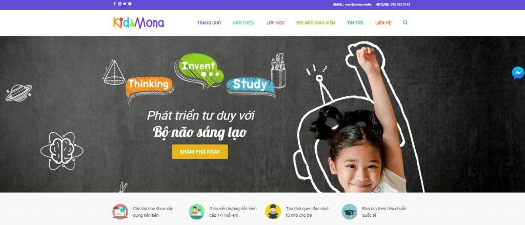 Thiết kế website giáo dục