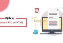 Dịch vụ cắt HTML - convert PSD to HTML