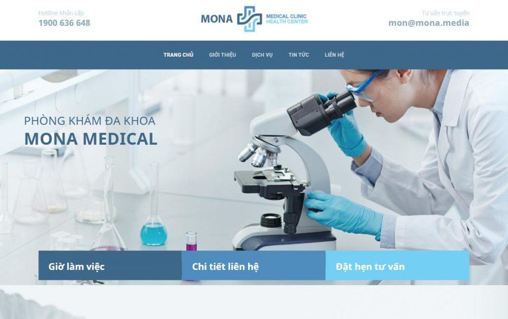 Giao diện website phòng khám nha khoa - bệnh viện chất lượng