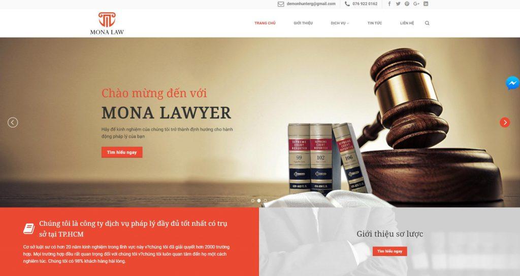 Khẳng định thương hiệu ngay trên website công ty luật