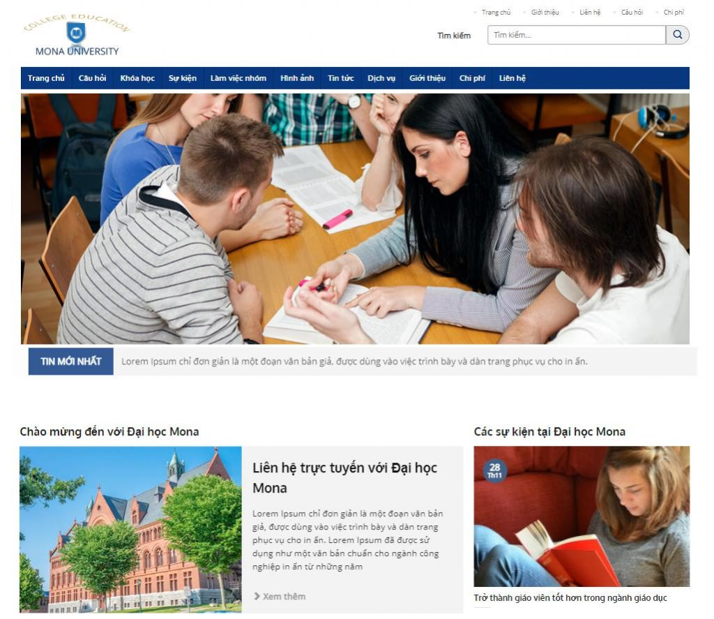 Những lưu ý trong việc thiết kế website trung tâm gia sư