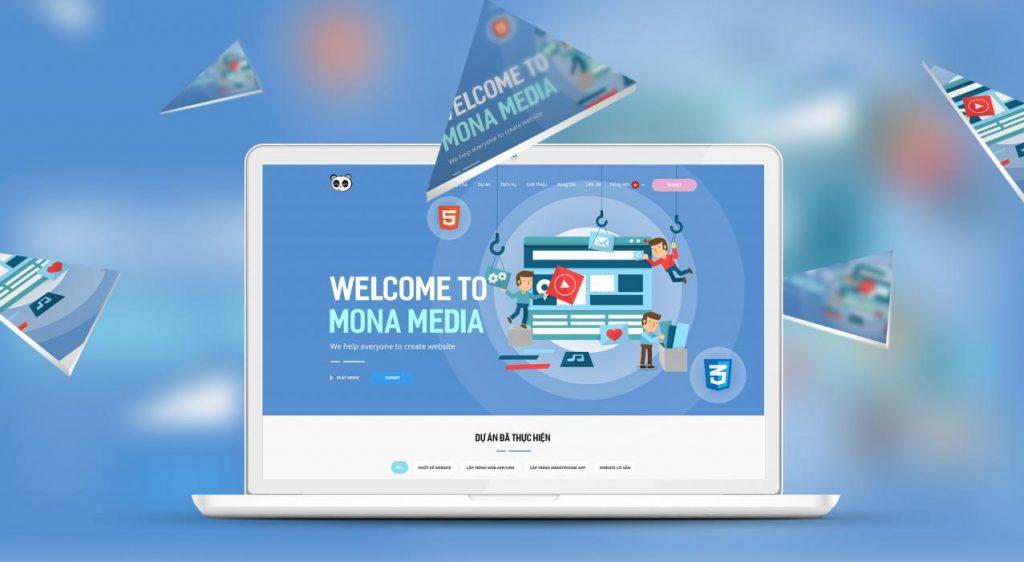 Dịch vụ lập trình website trung tâm ngoại ngữ tại Mona Media