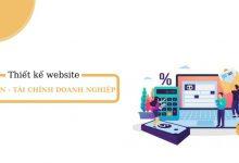 Thiết kế website kế toán - tài chính doanh nghiệp hiểu quả