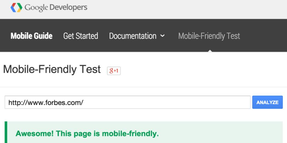 kiểm tra mobile friendly