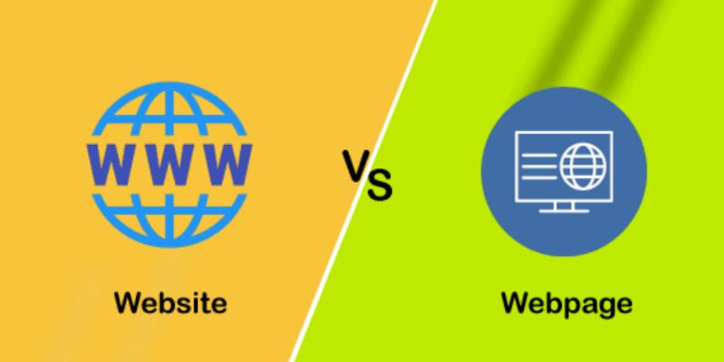 phân loại giữa web page và website